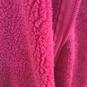 swiss tech Sweaters - Swiss Tech XL Pink Marled Zip Up Fleece Sweater